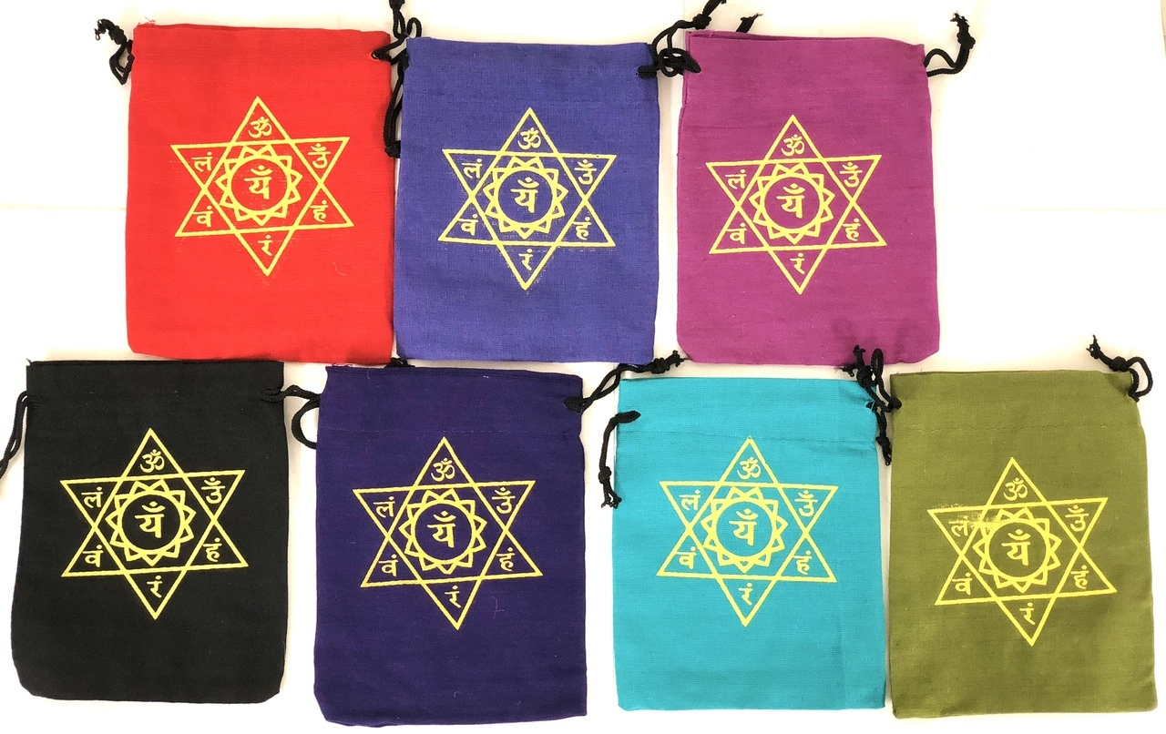 Fabric 7 Chakra Assorted Colors Bag 5
