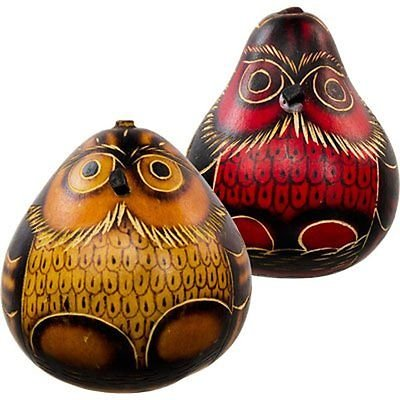 Rattles Owl Gourd Shakers