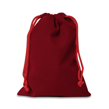 Velour Bag Red 3x4 Inches