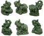Feng Shui Elephants Assorted - Jade Polyresin