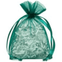 hunter green organza bag