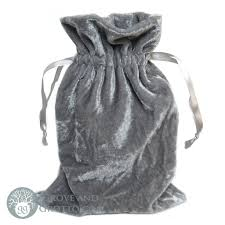 Velvet Bag Light Silver 6X9